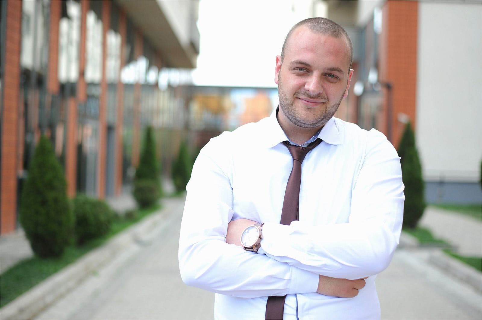 Motivated businessman