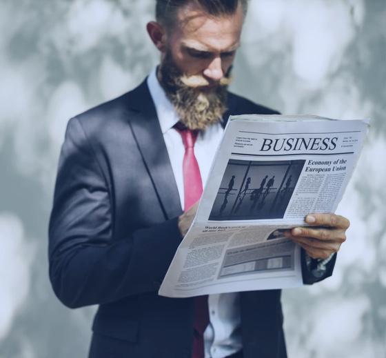 Bearded Business Man